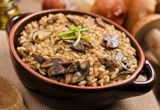 different recipes from brown rice| Mushroom brown rice| Walnuts