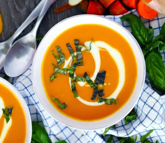 Immune-boosting food dishes  Caroot ginger soup