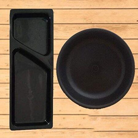 unique serveware items| Set of black plate bowl