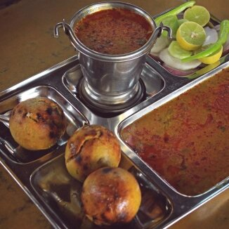 Food Dishes In Pushkar  Dal Baati